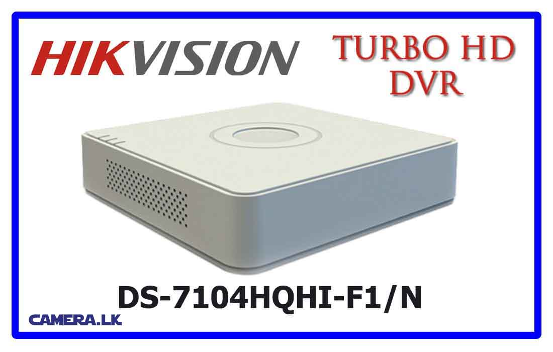 DS-7104HQHI-F1/N - Hikvision Turbo HD DVR