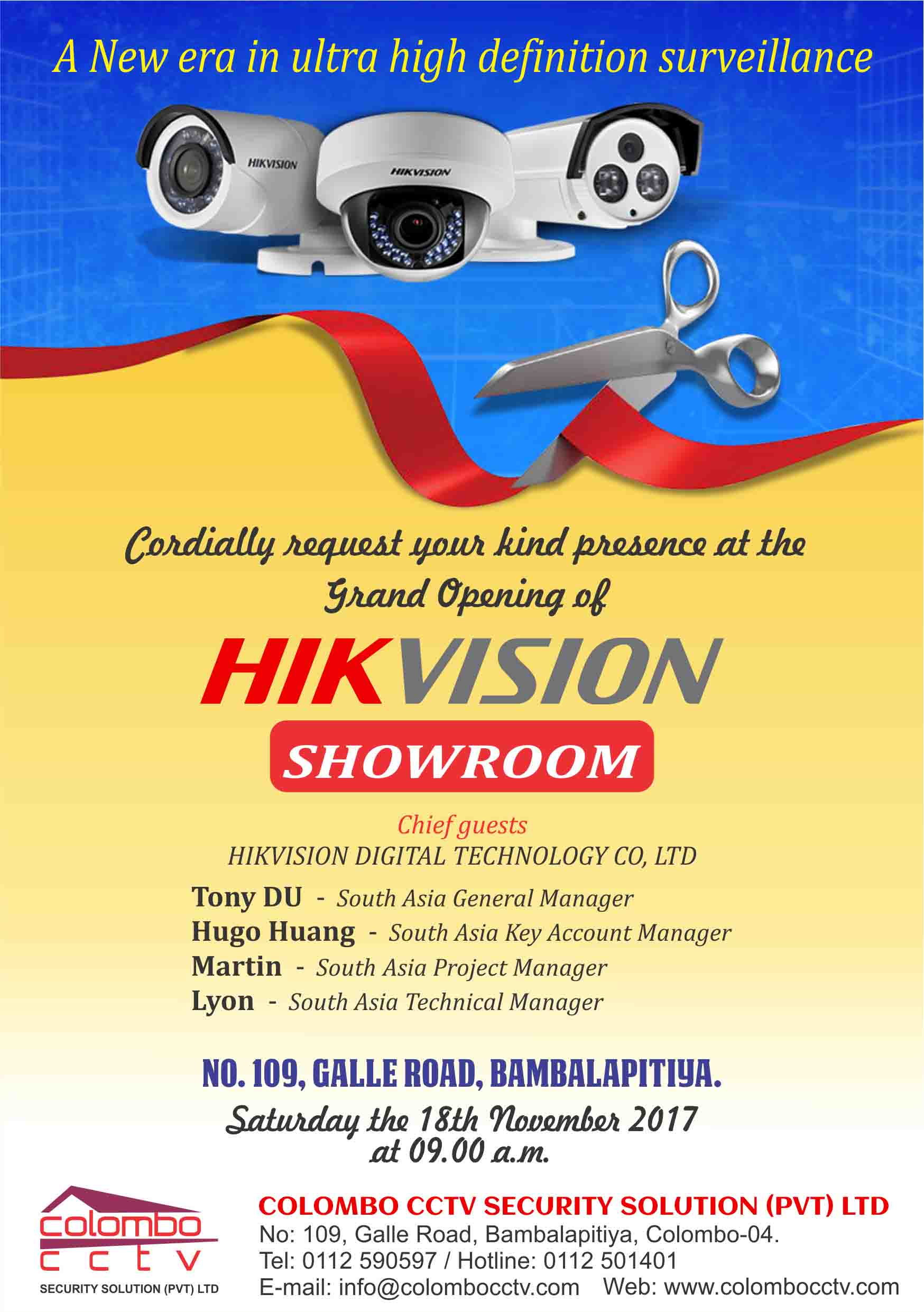 Best Hikvision Cctv Security Solution Cameras Dvr Shop In Colombo Avtech Wiring Solutions Ltd Invitation Card Copie